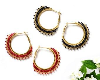 Women Gift|for|Sister Boho Earrings Gypsy Earrings Bohemian Jewelry Dainty Earrings Round Earrings Fashion Gift|for|Girlfriend Gift under 20