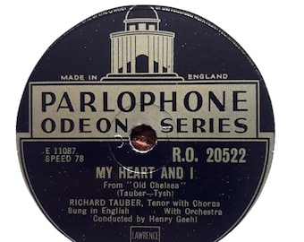 RICHARD TAUBER My Heart And I-Dearly Beloved Parlophone Odeon Series RO-20522
