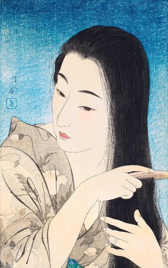 Kotondo Reproduction Japanese Art Print Morning Hair
