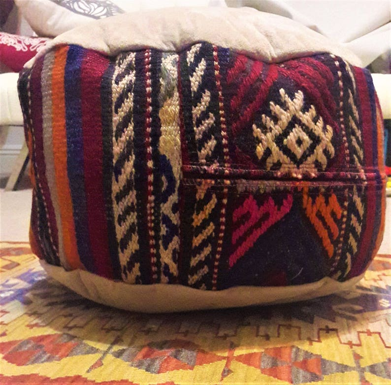 Ottomon Seat Cover Vintage Seat Cover Ottoman Pillow