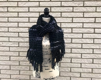 Womans Scarf | Fringe Scarf| Chunky Scarf | Gift for her | Holiday Scarf