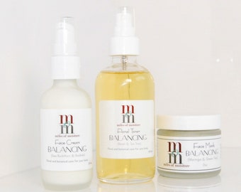 Balancing Facial Mask + Toner + Cream   for Oily   Combination Skin   First Impressions Collection