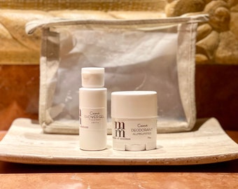 Shower Gel + Aluminum Free Deodorant Travel Kit   Vacation Gift Set   Travel Size   Deodorant   Body Wash