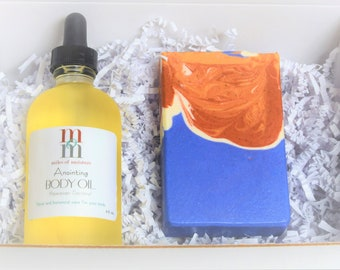 Anointing Body Oil & Artisan Soap   Serum Elixir + Gentle Bar Soap