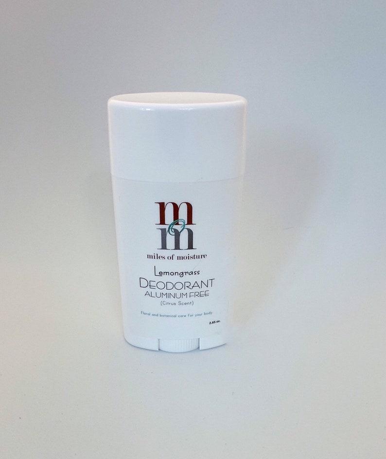 Lemongrass Aluminum Free Deodorant  Citrus Scent Aluminum image 0