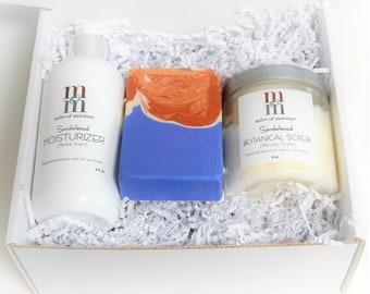 Bath & Body Set   Nourishing Moisturizer   Artisan Soap   Botanical Sugar Scrub