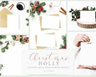 Download Free Christmas styled stock photography. Wedding stationery mockups. Quote mockups. Invitations. Flat lay stock. Winter. Wooden frame. Cards. PSD Template