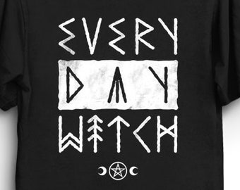 a4f364d2f7 Occult Witch Gothic T Shirt Gift - Norse Runes Pagan T-Shirt | Goth Shirt |  Occult Tee | Halloween T-Shirt | Horror T-Shirt