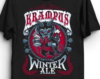 d54ab16a57 Krampus Winter Ale - T-Shirt | Gothic T-Shirt | Beer Label shirt | Horror  Shirt