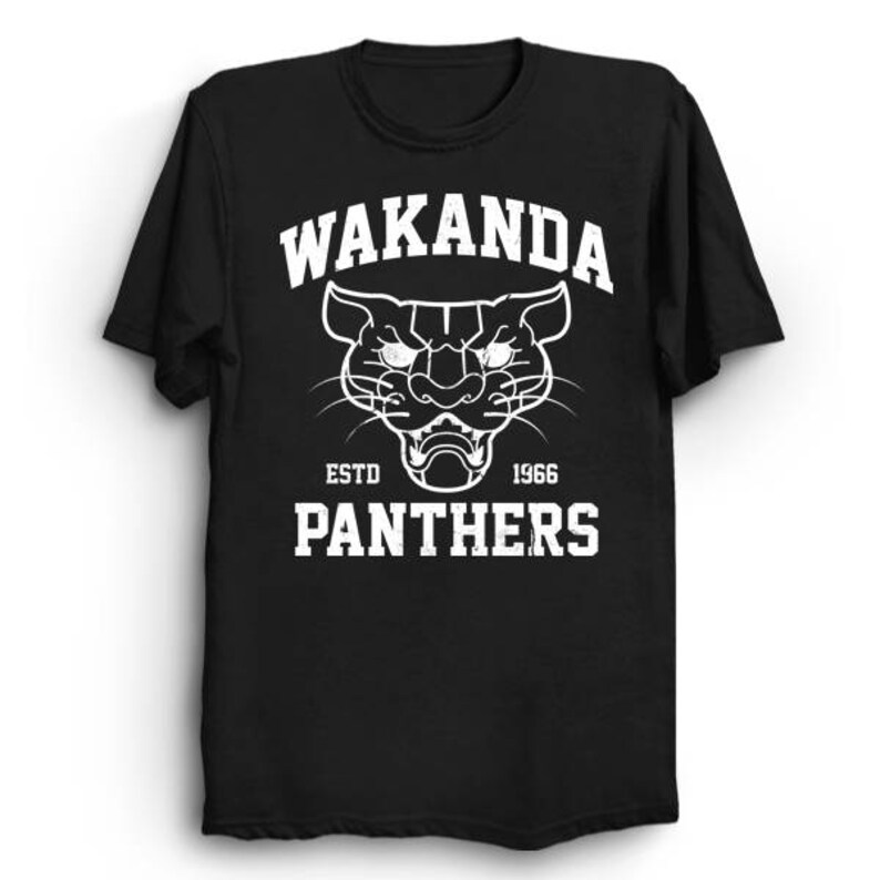 dbd7b14f Wakanda Panthers Black Panther T Shirt Superhero Shirt | Etsy
