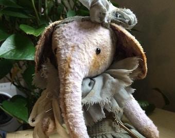 "ready-to-ship artist teddy elephant ""Nala"""