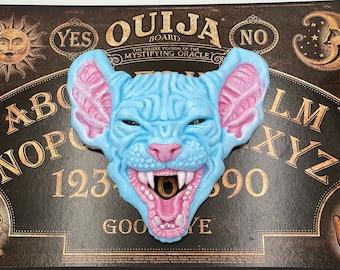 Sphynx Cat Ouija Planchette / Resin Art / Pastel Goth / Witchy Decor / Occult / Sculpture / Halloween / Kawaii / Oddity Curiosity / Dark Art