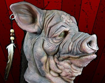 Porkchop Pig Butcher - Latex Full Head Pullover Wearable Halloween Collector Scary Horror Mask