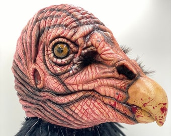 Carrion Vulture Bird - Latex Mask Full Head Pullover / Halloween / Cosplay / Costume / Party / Mascot / Collector / Animal / Scary / Horror