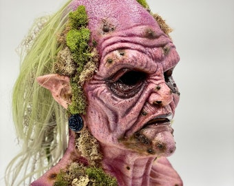 Baba Yaga Swamp Witch / Latex Mask Full Head Pullover / Halloween / Cosplay / Costume / Party / Collector / Scary / Horror / Pagan / Occult