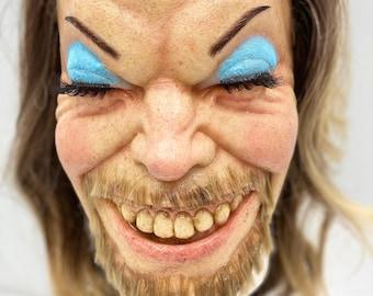 Aphex Twin Richard D. James - Latex Half Mask / Wearable / Halloween Mask / Cosplay / Collector / Come To Daddy / Windowlicker
