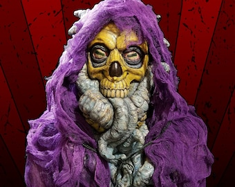King in Yellow - Latex Mask Full Head Pullover - Halloween Cosplay Scary Horror Collector Skeletor Lovecraft Cthulhu Eldritch Cosmic Horror
