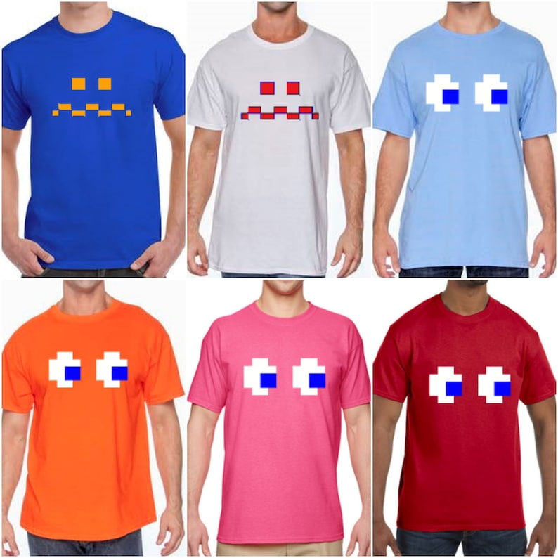Pac-Man Ghost Eyes T-shirts for Men, Many Colours, S to 4XL