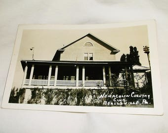 Vintage BEALLSVILE, PA Nemacolin Country Club Real Photo Postcard