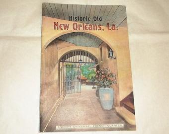 Vintage Historic -Old NEW ORLEANS, LA Booklet • Louisiana