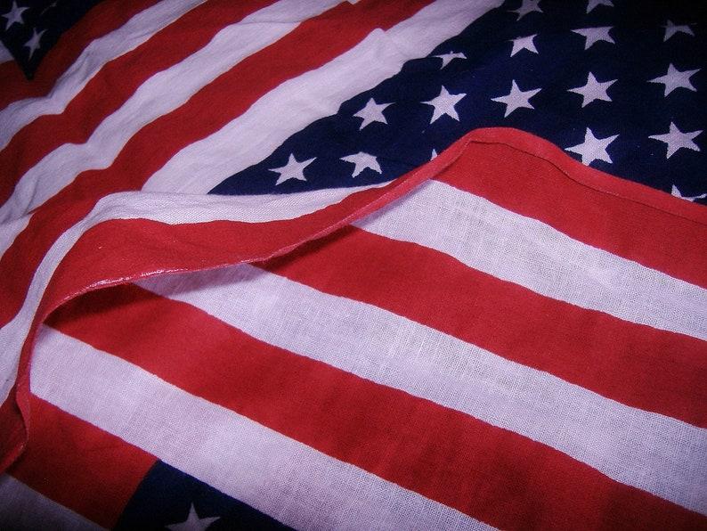 Uncut American Flag Panel Fabric \u2022 old glory \u2022 Red White /& Blue Americana