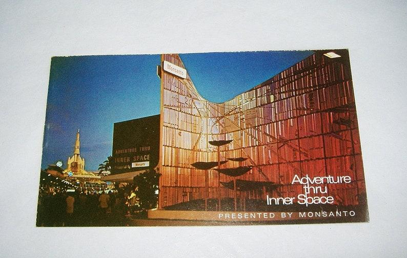 Vintage MONSANTO Disneyland Adventures thru Inner Space POSTCARD BOOKLET \u2022 California Amusement Park