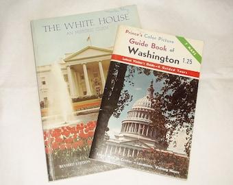 2 vintage Washington D.C. Guide Books • Prince's Color Picture / The White House