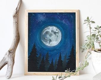 Lunar Sky- Art Print