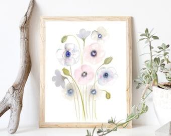 Gentle Poppies- Art Print