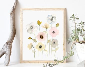 Graceful Poppies- Art Print