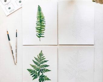 Botanical Watercolor Coloring Kit