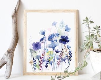 Shades of Blue- Art Print