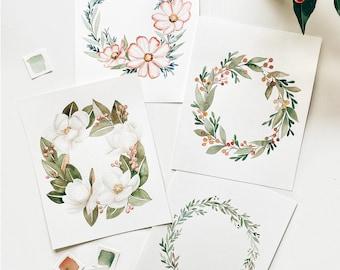 Wreath Art Watercolor Coloring Kit