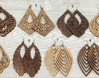 Bow Earrings Wooden Jewellery Cute Earrings Wood Jewelry Kawaii Earrings Eco Friendly Wood Studs Wooden Studs Natural Earrings for Her