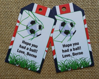 18 4Football Tags, Birthday Tags, Sports Tags, Hope You Had A Ball Party Tags