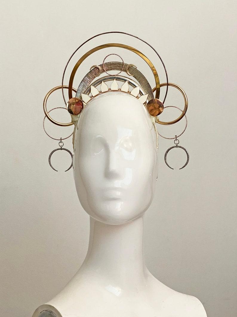 Gold Goddess Crown Aurora
