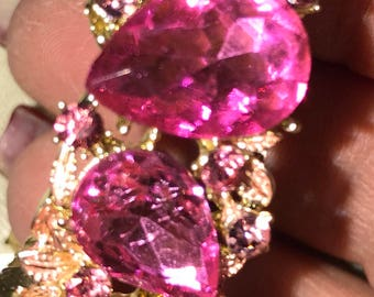 Hot Pink Crystal Bracelet