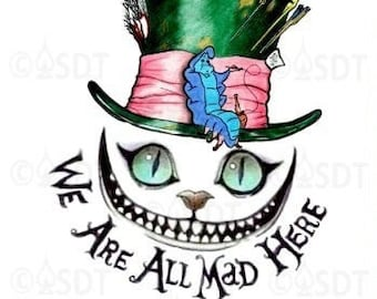 Mad Hatter Tattoo Etsy