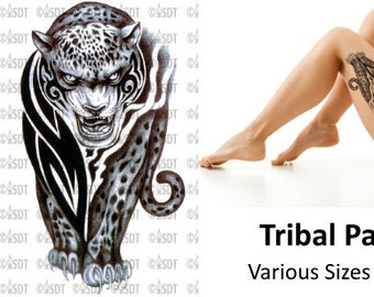 4d8f09a0a Tribal Panther Temporary Tattoo