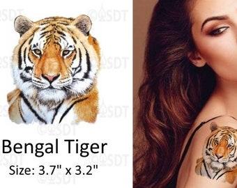 f19d37130c227 Bengal Tiger Temporary Tattoo