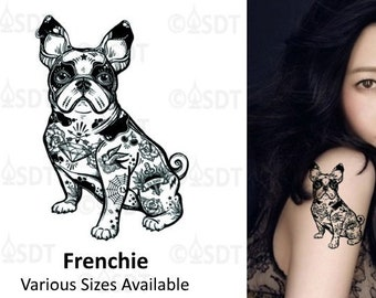 Bulldog tattoo | Etsy