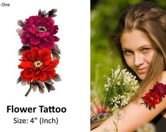 Flowers Temporary Tattoos
