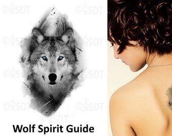 Wolf Tattoo Etsy