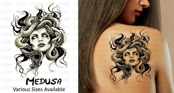 Medusa Temporary Tattoo