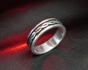 Celtic wedding band, celtic band, celtic ring, knot band, braided ring, celtic wedding ring, silver wedding ring, braided wedding ring, gift