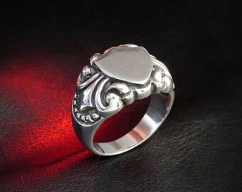 Signet Ring Carpe Diem Ring Mens Signet Ring Pinky Ring Mens