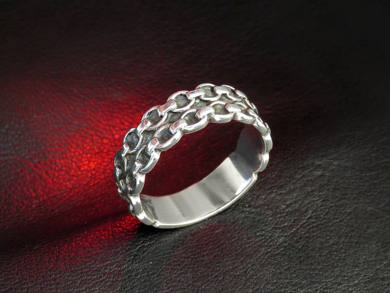 women s silver ring chain ring sterling silver ring  ab31c0b08
