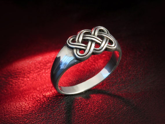 celtic knot ring sterling silver celtic ring silver knot  38f140a24