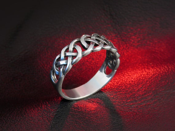 silver knot ring irish ring silver Celtic ring sterling  fd3249d3d