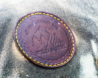 Wild & Free Leather Patch